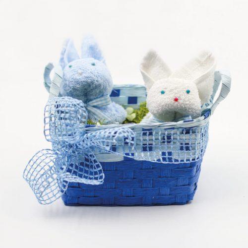 cestino di Pasqua con coniglietti
