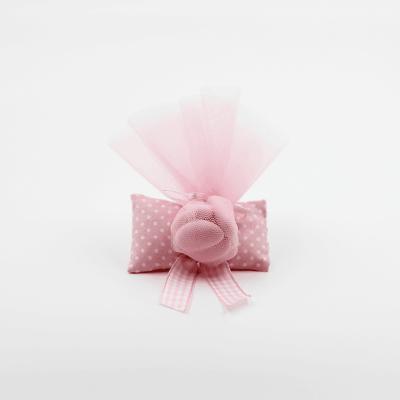 Sacchetto rosa pois