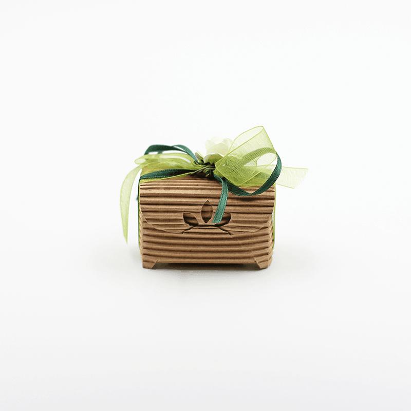 scatolina rustica fiocco verde