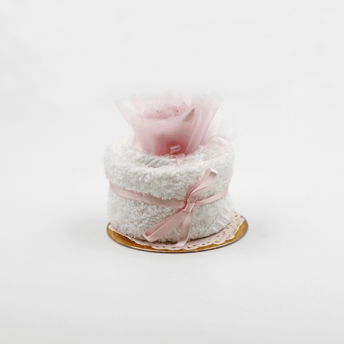 tortina comunione rosa