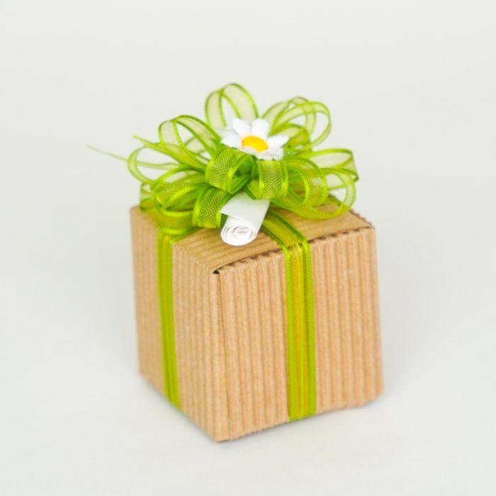 Bomboniera Solidale Promessa di Matrimonio scatolina rustica - Sostieni LILT Biella