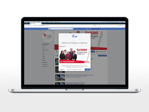 Creare raccolta fondi su Facebook
