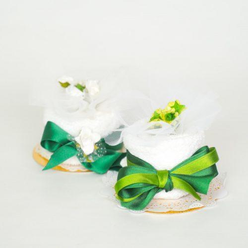 Bomboniera solidale promessa di matrimonio torta - Sostieni LILT Biella