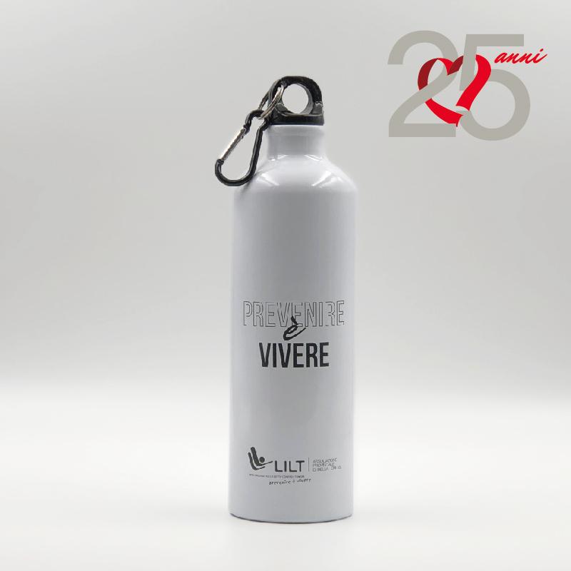 Borraccia Prevenire è Vivere - gadget LILT Biella - Sostieni LILT Biella